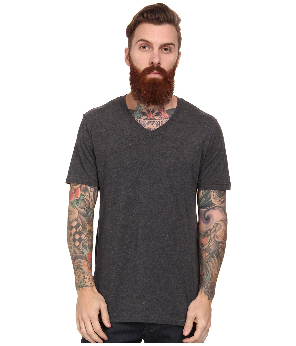 Volcom - Heather V-Neck Tee (Heather Black) Men
