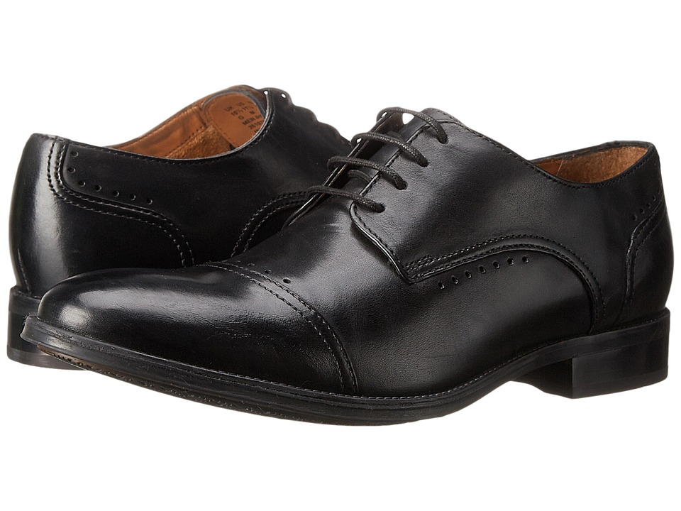 Bostonian - Greer Mile (Black Leather) Men's Lace Up Cap Toe Shoes