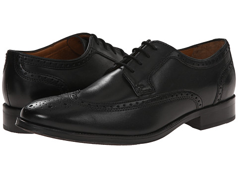 Bostonian - Greer Wing (Black) Men's Lace Up Wing Tip Shoes