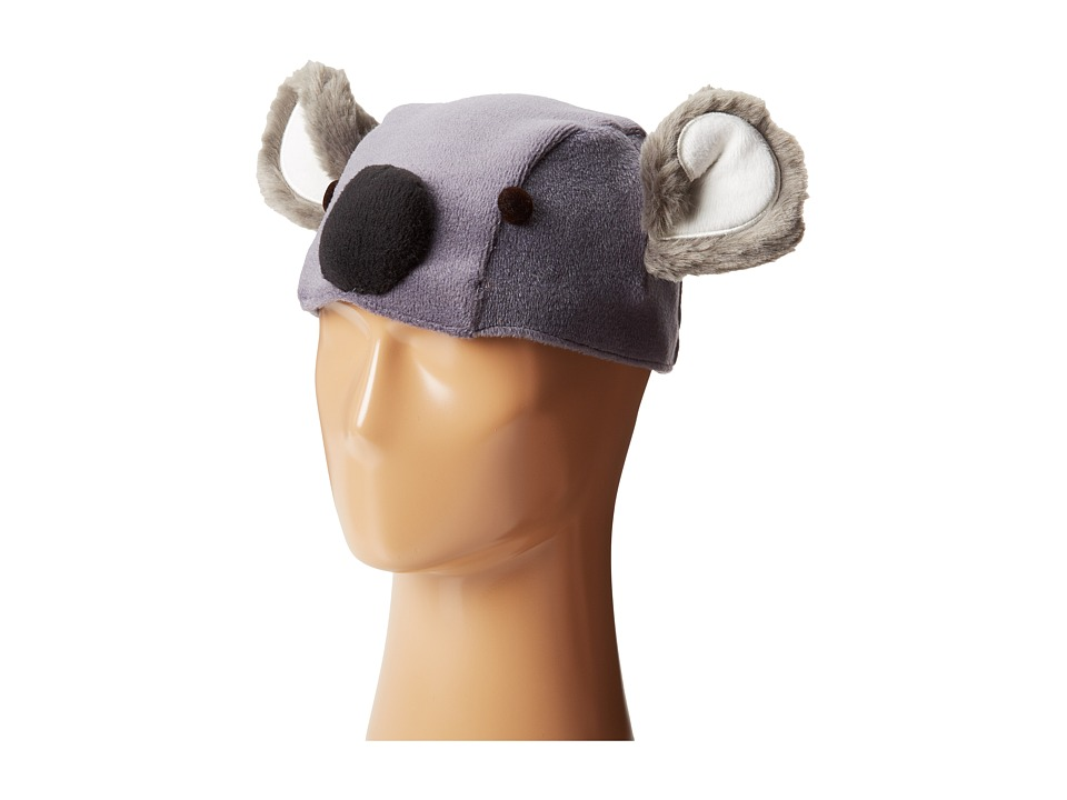 Grace Hats - Koala Watch Beanie w/ Detachable Fingerless Gloves (Grey) Caps