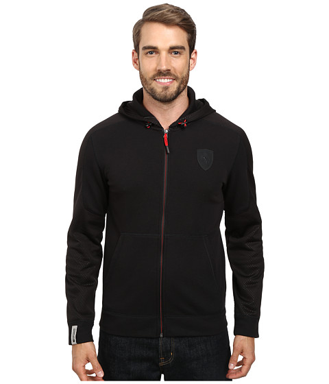 PUMA - Ferrari Hooded Sweat Jacket (Black 2) Men