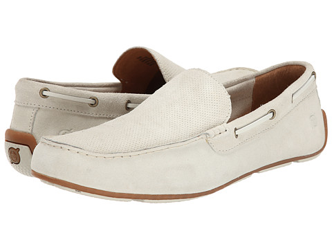 Born - Marcus (Lino (Off White) Suede) Men's Slip on Shoes