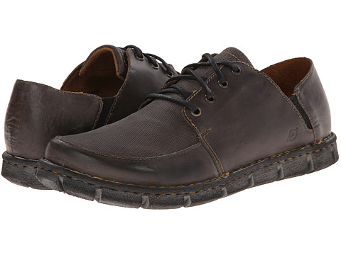 Born - Tristen (Light Grey Embossed Full-Grain Leather) Men's Lace up casual Shoes
