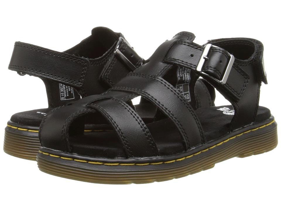 Dr. Martens Kid's Collection - Sailor Fisherman Sandal (Little Kid/Big Kid) (Black Ecotec) Kids Shoes