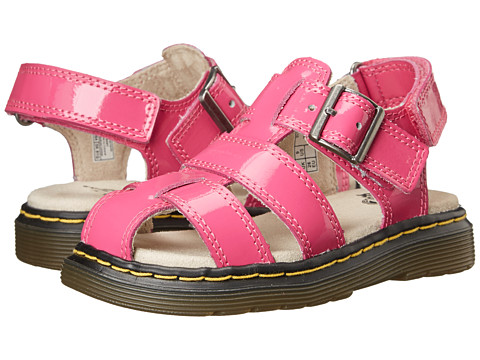 Dr. Martens Kid's Collection - Moby Fisherman Sandal (Toddler) (Hot Pink Ecotec) Girls Shoes