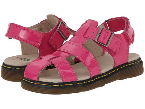 Dr. Martens Kid's Collection - Sailor Fisherman Sandal (Little Kid/Big Kid) (Hot Pink Ecotec) Girls Shoes