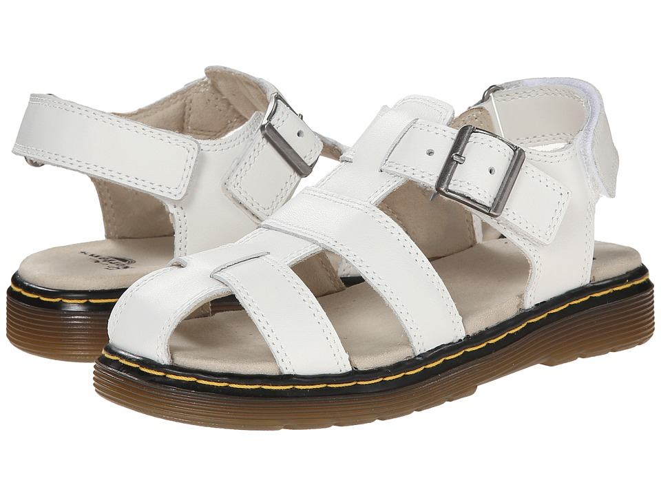 Dr. Martens Kid's Collection - Sailor Fisherman Sandal (Little Kid/Big Kid) (White Ecotec) Girls Shoes