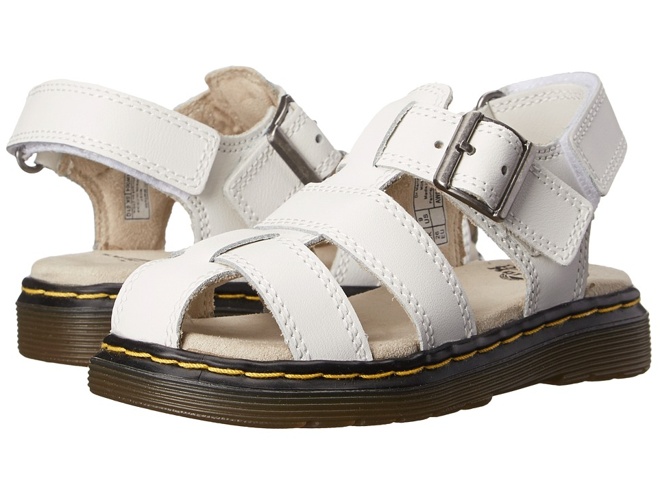 Dr. Martens Kid's Collection - Moby Fisherman Sandal (Toddler) (White Ecotec) Girls Shoes