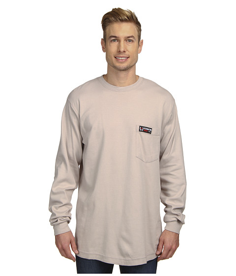 Cinch - L/S Cinch WRX Flame Resistant Interlock (Grey 1) Men's Long Sleeve Pullover