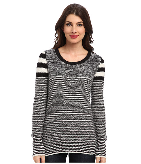 Sam Edelman - Striped Sweater (Black/Ivory) Women's Sweater