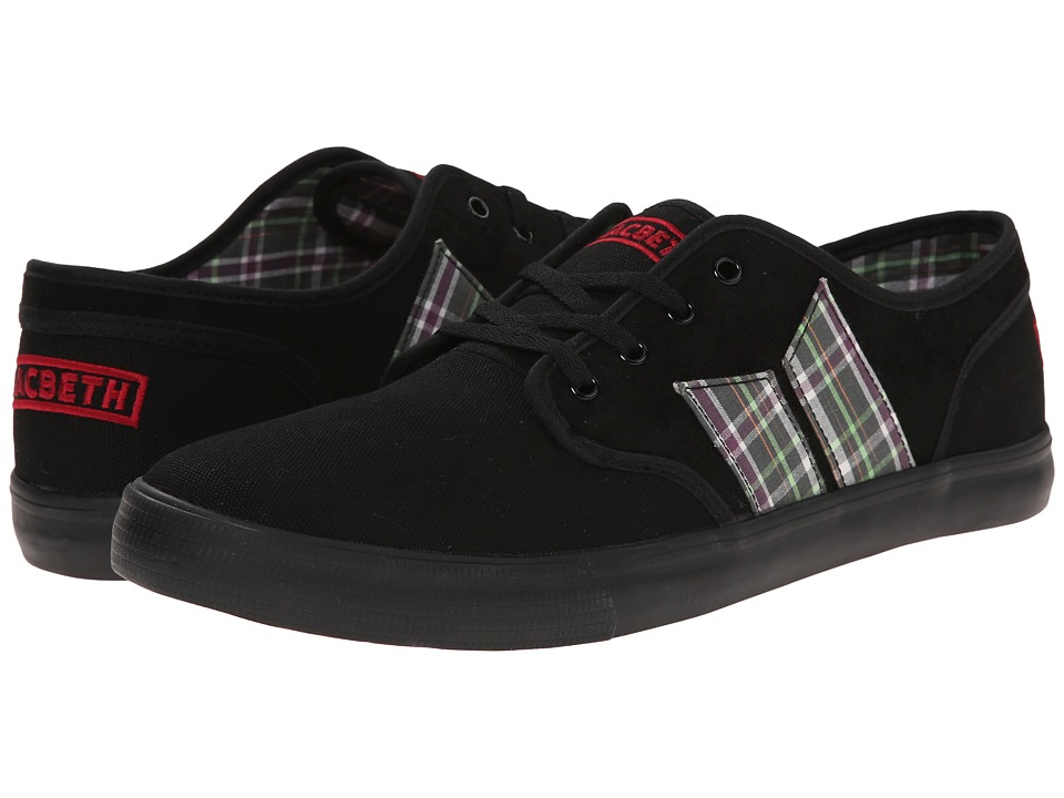 Macbeth - Langley (Black/Plaid Vegan) Men's Skate Shoes
