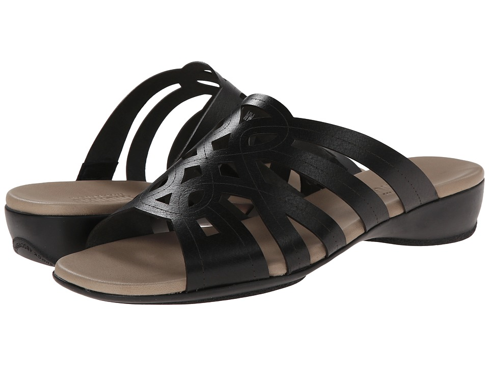 Munro American - Malia (Black Leather) Women's Sandals