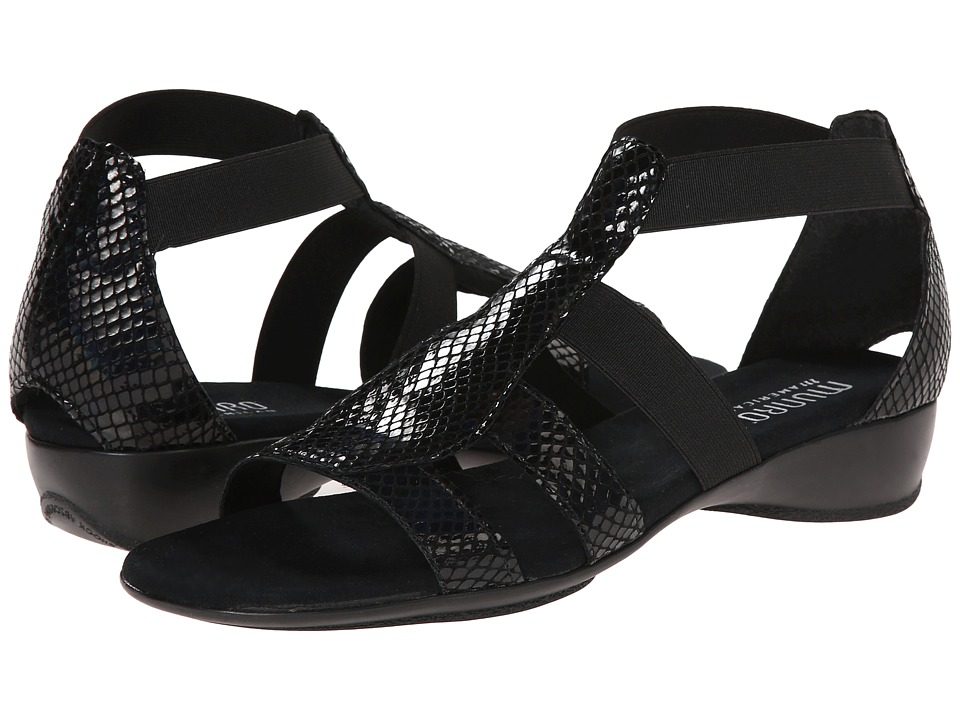 Munro - Zena (Black Petrol Snake) Women's Sandals