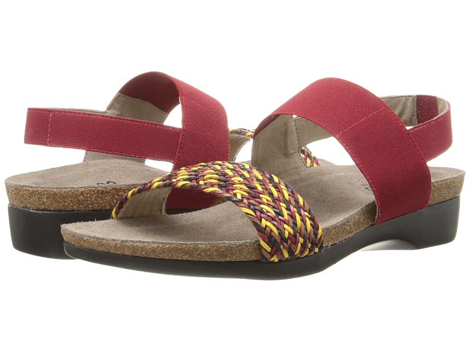 Munro - Pisces (Red Multi Woven) Women's Sandals
