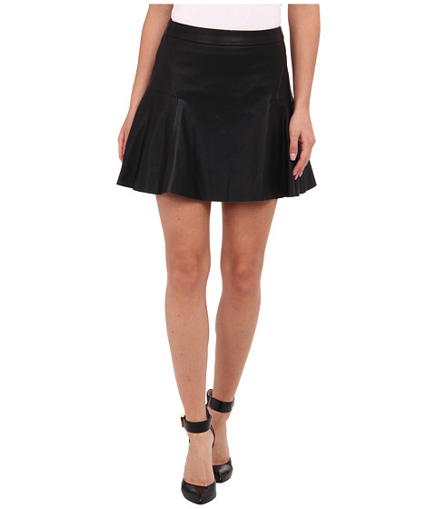 Sam Edelman - Vegan Leather Triple Zipper Skirt (Black) Women