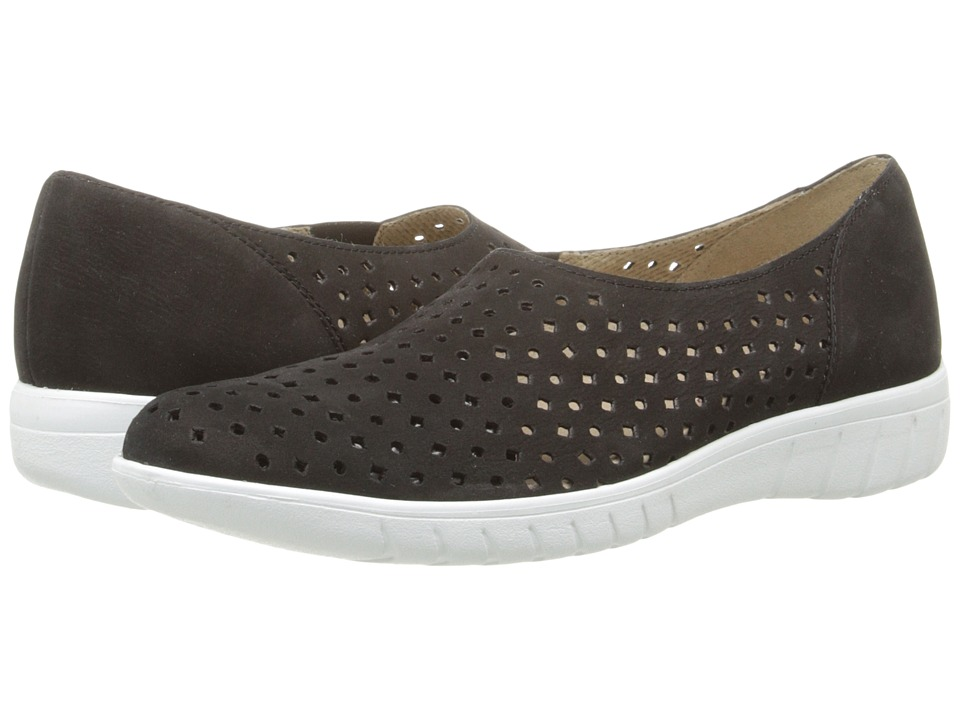Munro - Skipper (Black Nubuck) Women's Slip on Shoes