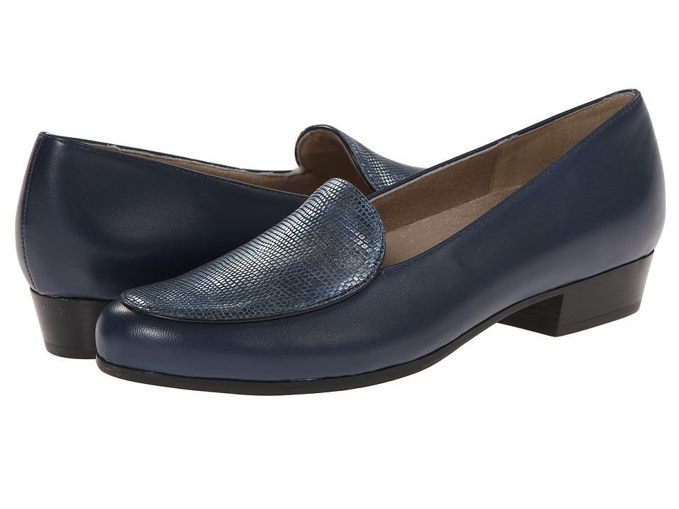 Munro - Mallory (Navy Kid/Print) Women's Slip on Shoes
