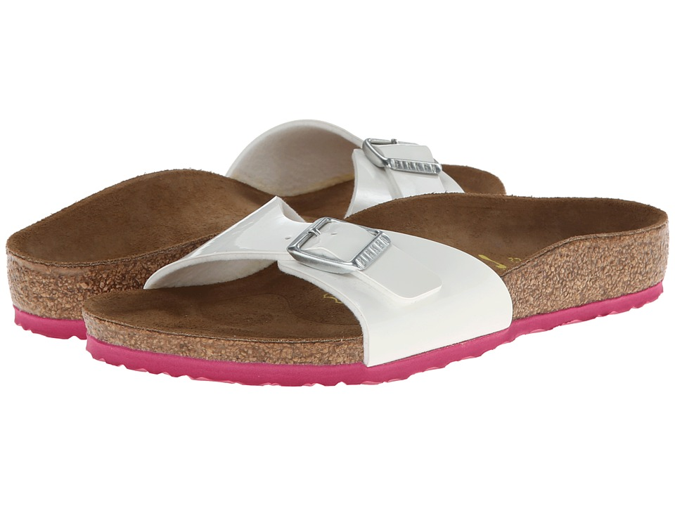Birkenstock Kids - Madrid (Toddler/Little Kid/Big Kid) (Pink/White Patent Birko-Flor) Girl's Shoes
