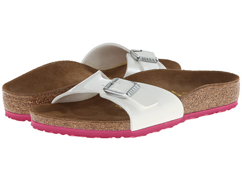Birkenstock Kids - Madrid (Toddler/Little Kid/Big Kid) (Pink/White Patent Birko-Flor) Girl