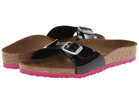 Birkenstock Kids - Madrid (Toddler/Little Kid/Big Kid) (Pink/Black Patent Birko-Flor) Girl