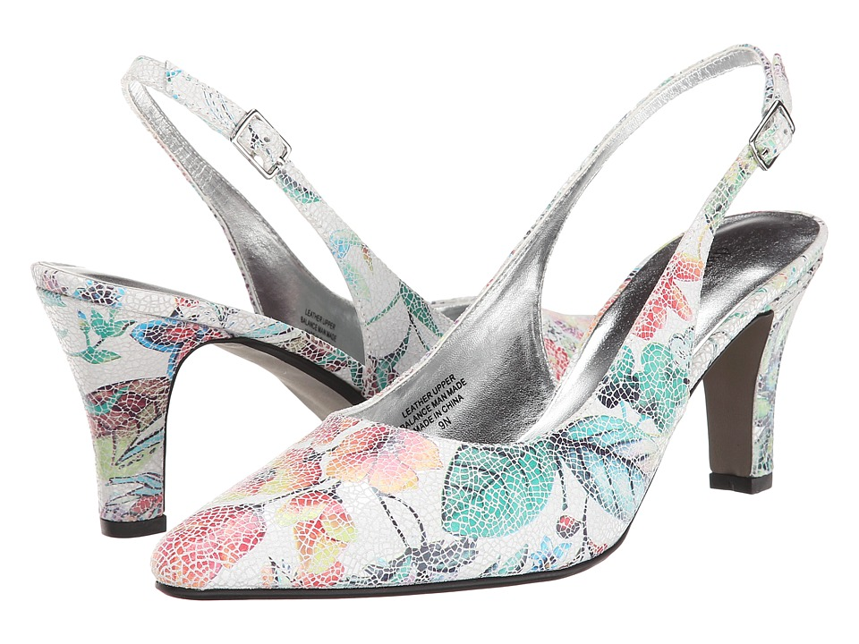 David Tate - Lace (Leather Floral Print) High Heels