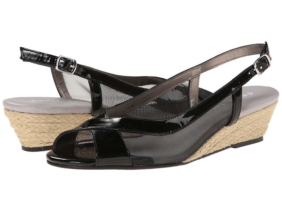David Tate - Portos (Black Patent) Women's Sling Back Shoes