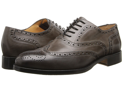 Ron White - Damon (Slate Hand Burnished Calf) Men's Lace Up Wing Tip Shoes