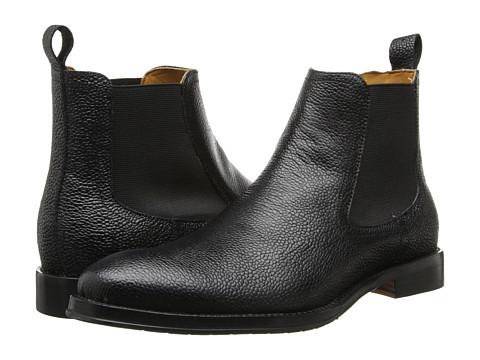 Ron White - Drake (Black Pebble Grain Calf) Men's Dress Pull-on Boots