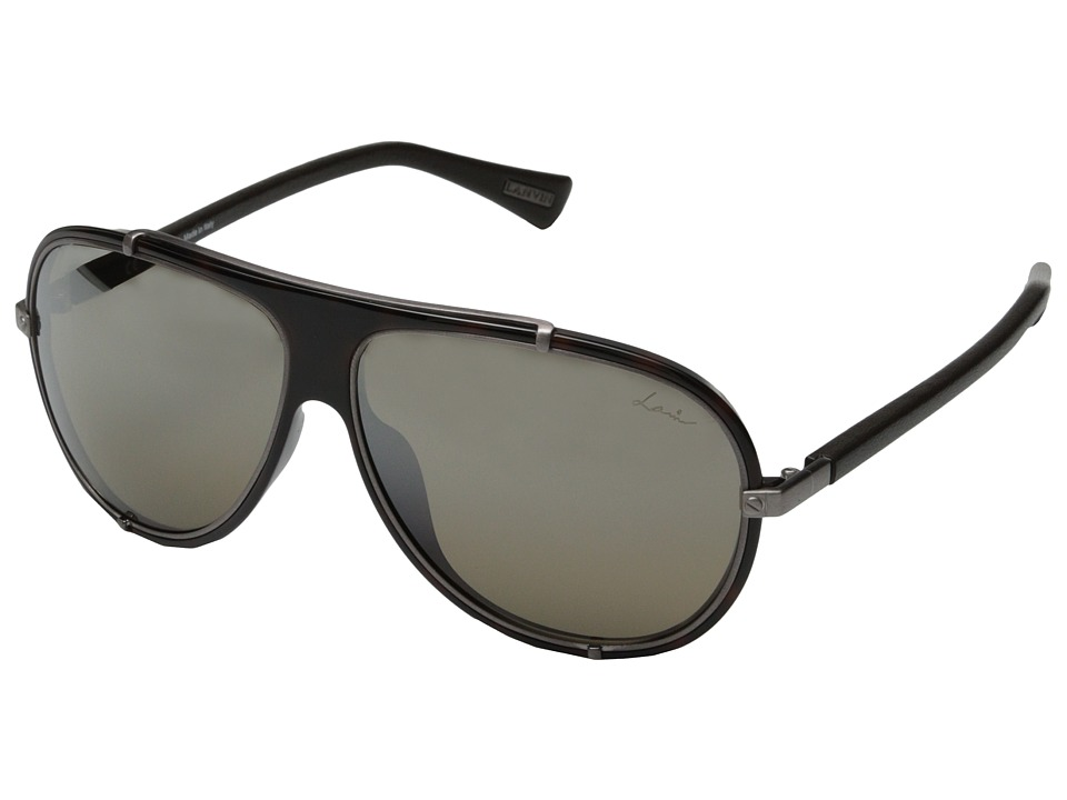 Lanvin - SLN021 (Tortoise/Gun Leather/Brown) Fashion Sunglasses