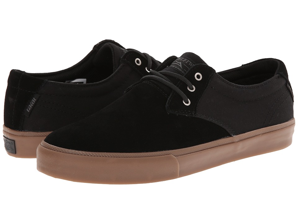 Lakai - M.J. (Black/Gum Suede) Men's Skate Shoes