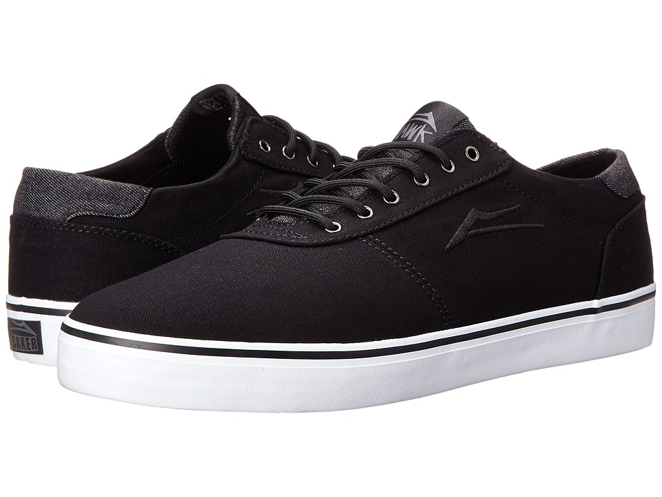 Lakai - Manchester Lean (Black Canvas/Riley Hawk) Men