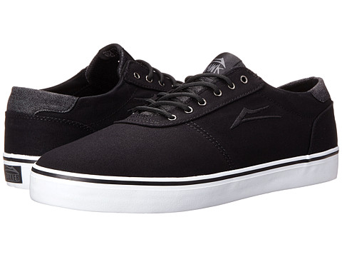 Lakai - Manchester Lean (Black Canvas/Riley Hawk) Men's Skate Shoes