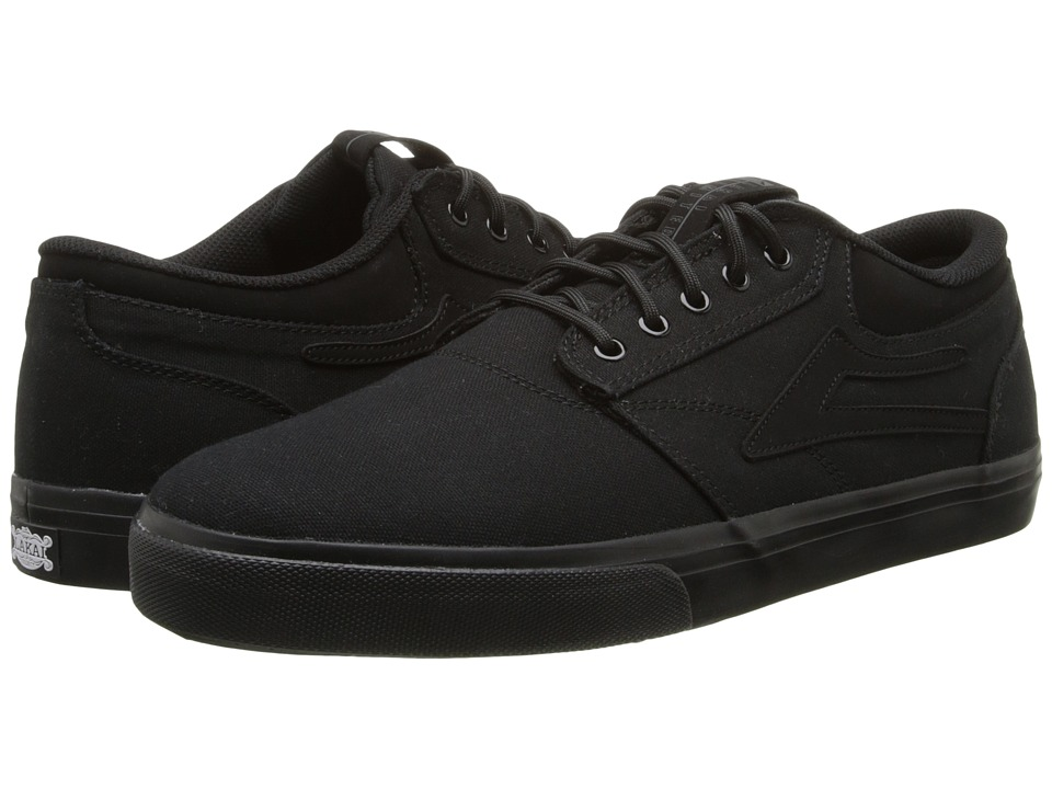 Lakai - Griffin (Black/Black Canvas) Men's Skate Shoes
