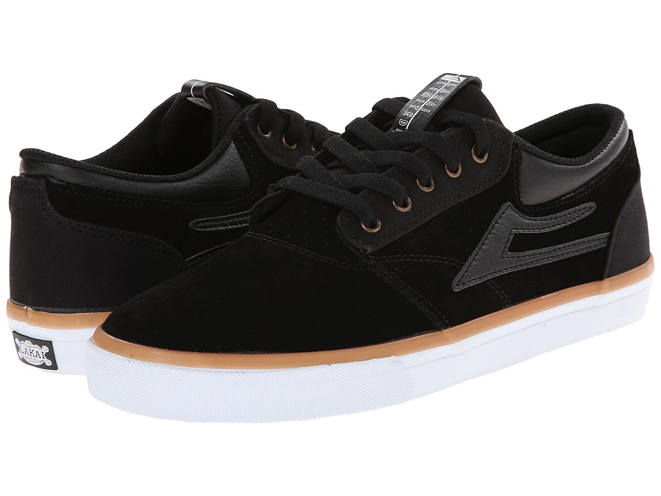 Lakai - Griffin (Black Suede) Men's Skate Shoes