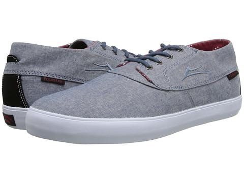 Lakai - Camby Mid (Stonewash Textile) Men's Skate Shoes