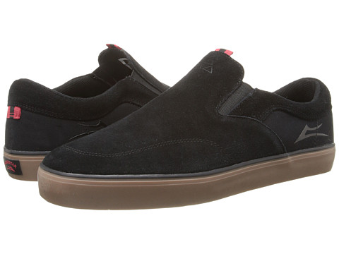 Lakai - Owen (Black/Gum Suede) Men's Skate Shoes