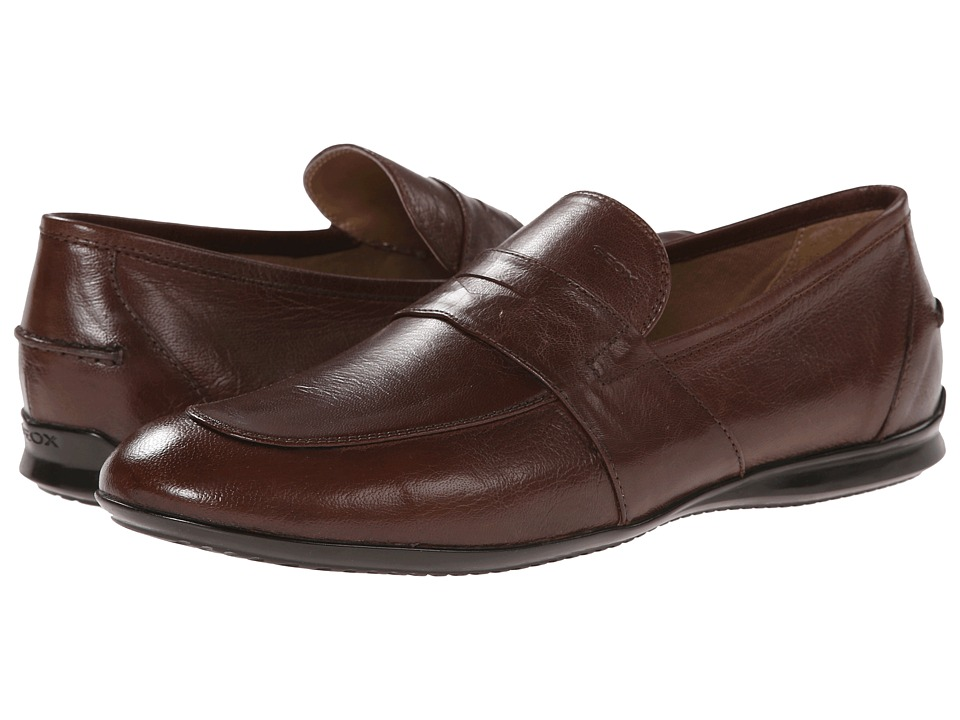 Geox - U Gilles 5 (Dark Brown) Men's Slip on Shoes