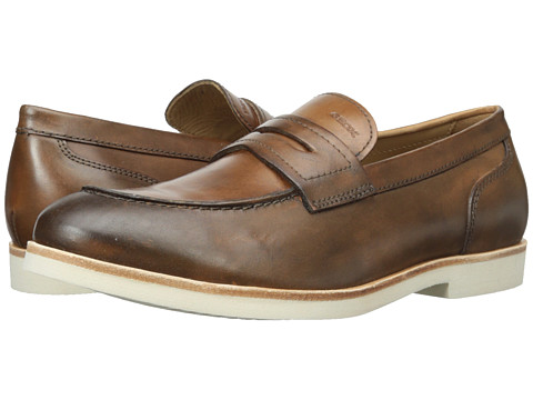 Geox - U Manuel 5 (Cognac) Men's Slip on Shoes