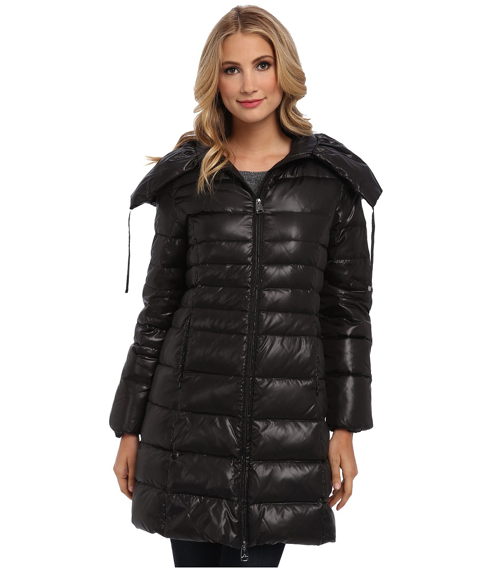 Via Spiga - Belted Pillow Collar (Black) Women's Coat
