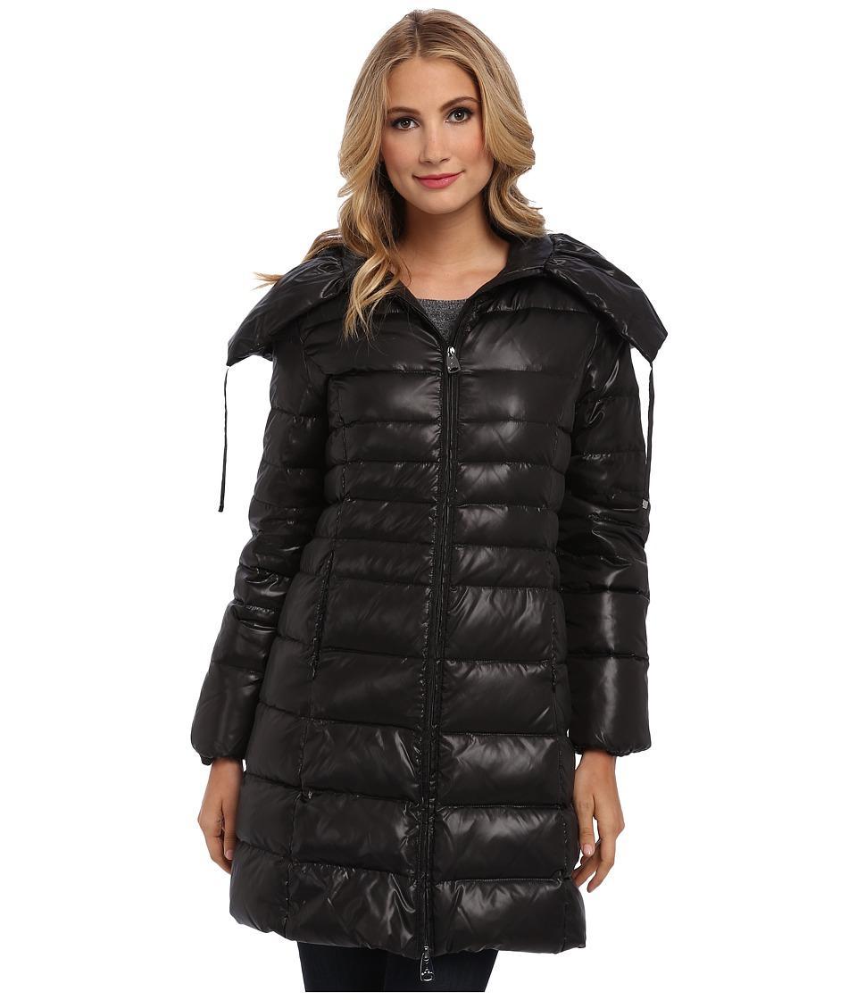 Via Spiga - Belted Pillow Collar (Black) Women's Coat