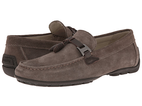 Geox - U Monet 30 (Dove Grey/Coffee) Men's Slip on Shoes
