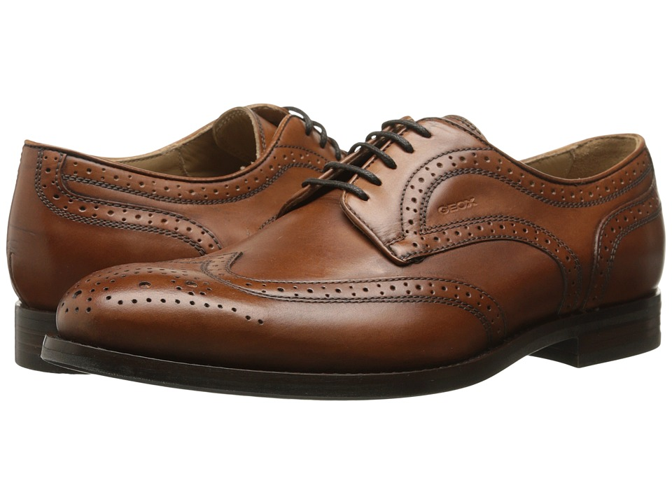 Geox - U Hampstead 3 (Cognac) Men's Lace up casual Shoes