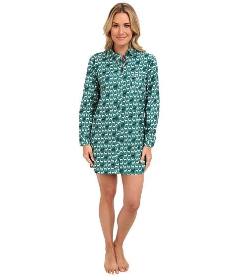 Jane & Bleecker - Flannel Sleep Shirt 352850 (Dasher and Prancer) Women's Pajama