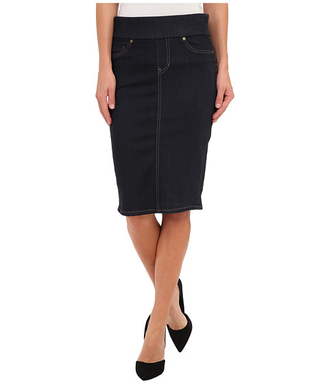 Liverpool - Cecil Pull-On Denim Pencil Skirt - 24 Length (Indigo Rinse) Women's Skirt
