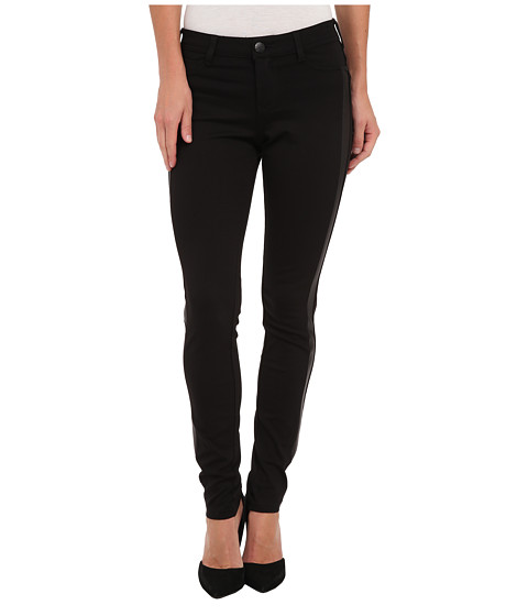 Liverpool - Madonna Ponte Five-Pocket Legging with Coated Ponte Trim (Black) Women