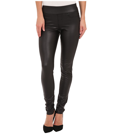 Liverpool - Sienna Pull-On Coated Ponte Legging (Black) Women