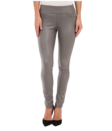 Liverpool - Sienna Pull-On Coated Ponte Legging (Eiffel Tower Gray) Women's Casual Pants