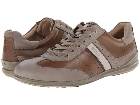 ECCO - Chander Retro Sneaker (Stone/Navajo Brown/Mocha/Gravel) Men's Lace up casual Shoes