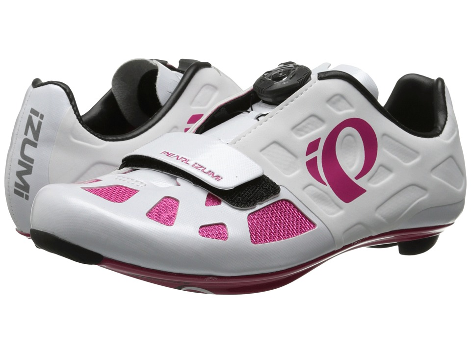 Pearl Izumi - Elite Rd IV (White/Pink Punch) Women's Cycling Shoes