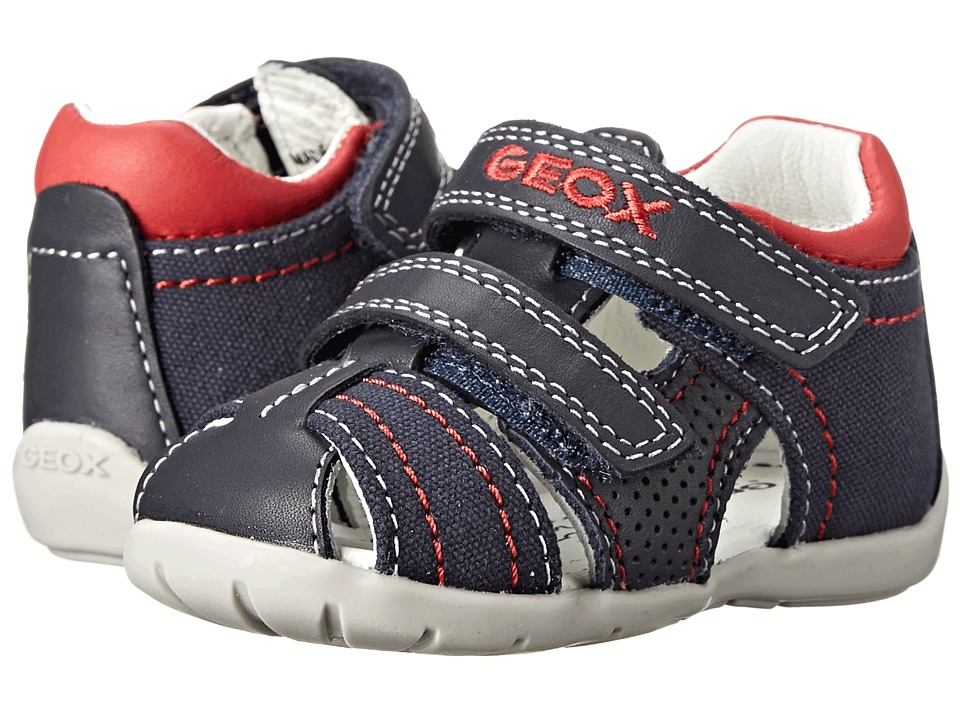 Geox Kids - Baby Kaytan Boy 9 (Infant/Toddler) (Navy/Red) Boy's Shoes
